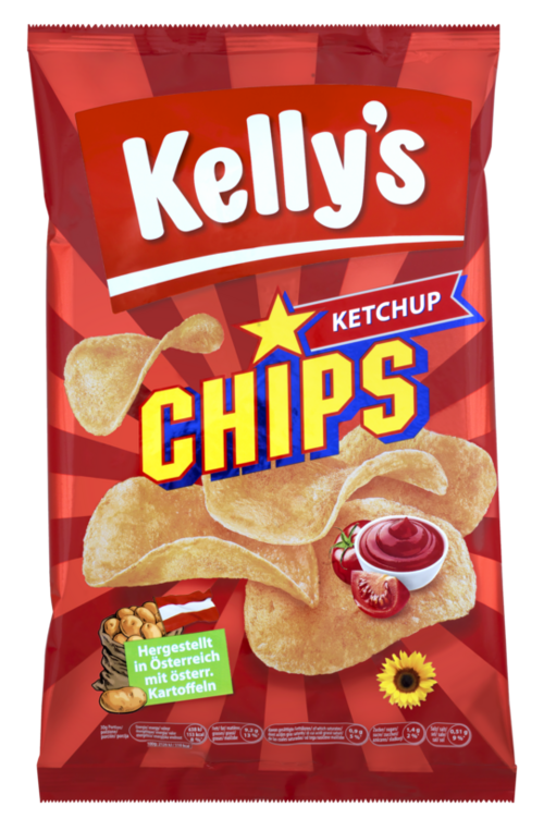 Verpackung von Kelly's CHIPS KETCHUP