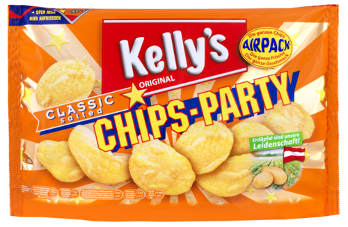 Verpackung von Kelly's CHIPS-PARTY CLASSIC Salted