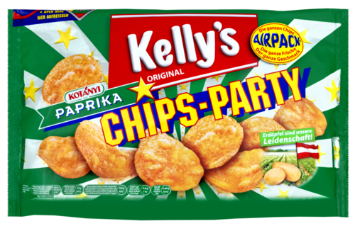 Verpackung von Kelly's CHIPS-PARTY PAPRIKA