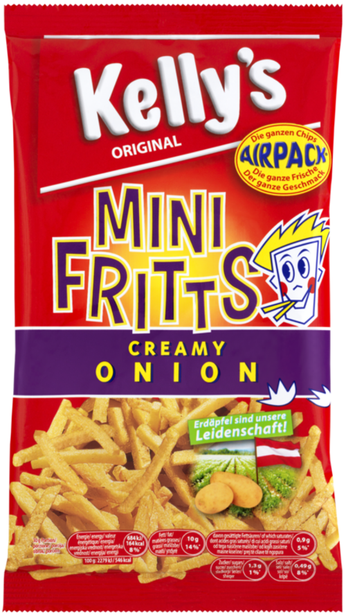 Verpackung von Kelly's MINI FRITTS CREAMY ONION